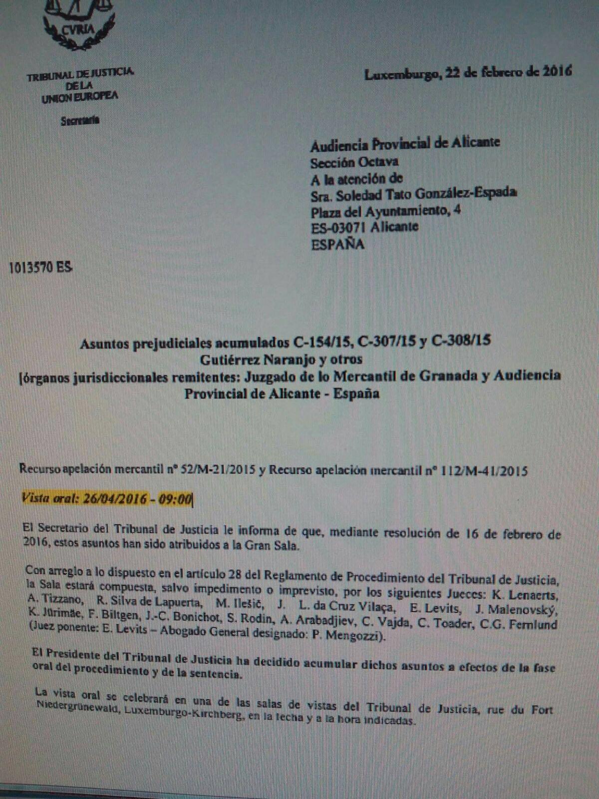 Rimada abogados en asturias el tribunal europeo decidir for Sentencia nulidad clausula suelo
